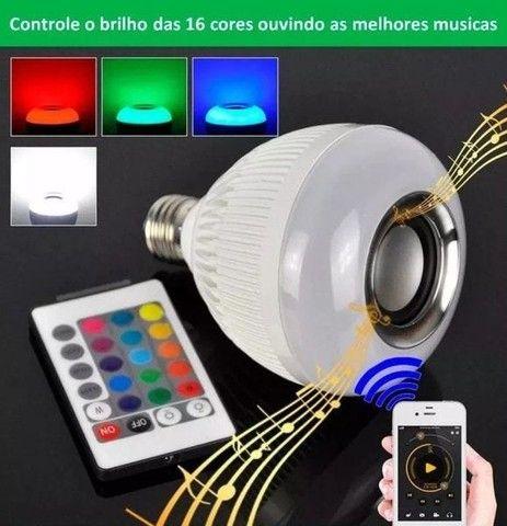 Lâmpada Led RGB com Caixa de Som Ideal Para Decorar Ambiente - Foto 4