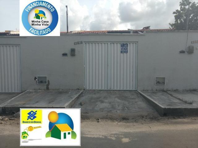 Casas novas Planas de 5 metros de frente financiadas no Parque Tijuca em Maracanaú