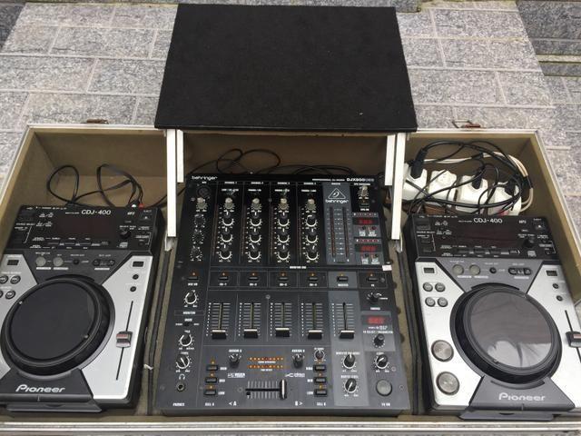 Cdj 400+ case + mixer