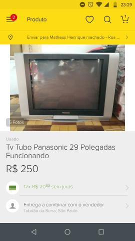 Barbada tv Panasonic 29