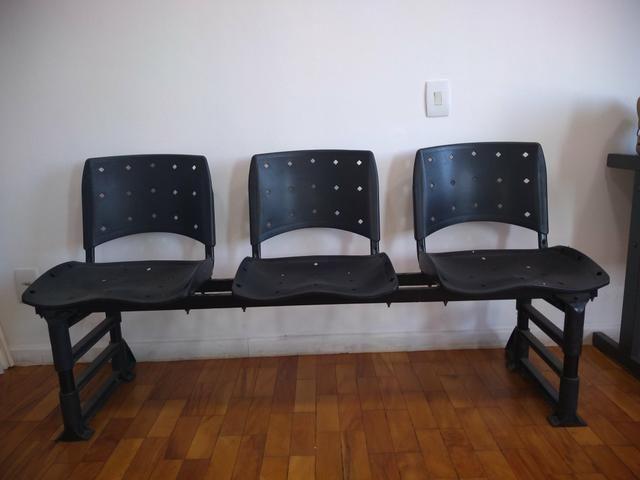 Cadeira 3 lugares - Longarina