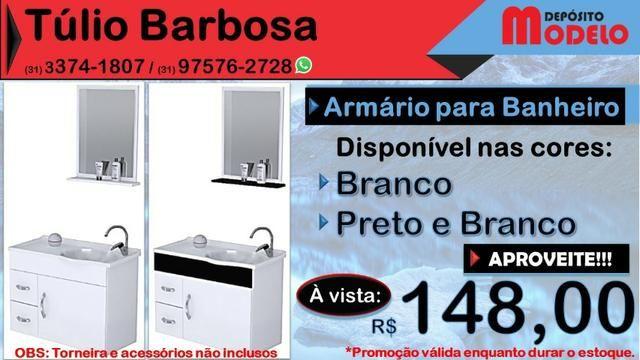 Armário para Banheiro NOVO com Pia e Espelho - Foto 2
