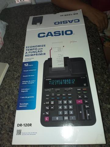 Calculadora c bobina impressora Casio nova - Foto 2