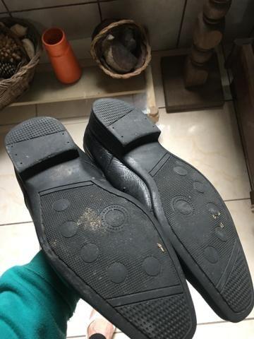 Sapatos sociais de couro legítimo 40 - Foto 3