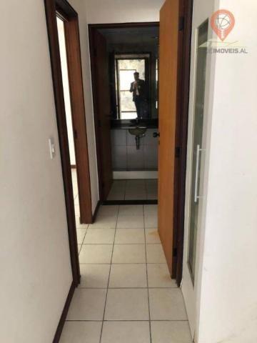 Apartamento com 1 dormitório à venda, 54 m² por R$ 220.000,00 - Jatiúca - Maceió/AL - Foto 3