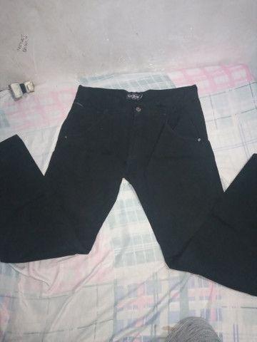 Calça jeans preta Rock Blue 44 - Foto 2