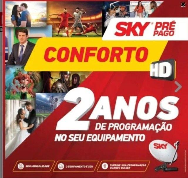 Receptor sky pre pago conforto 3 ANOS DE CANAIS LIVRE