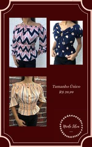 Blusas 3 modelos disponíveis