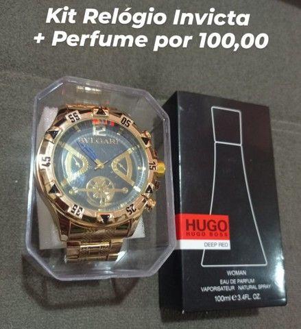 Kit Relógio e Perfume 100 ML  - Foto 6