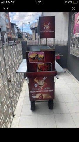 Vendo carrinho de Pastel 1800 - Foto 2