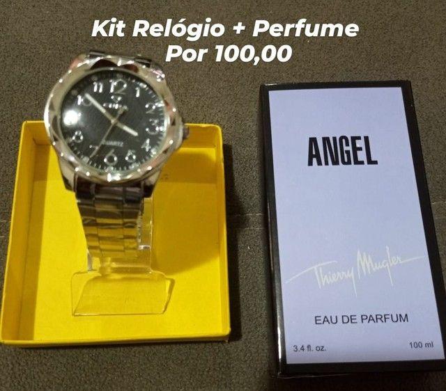Kit Relógio e Perfume 100 ML  - Foto 5