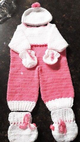 Saída de bebê em crochê