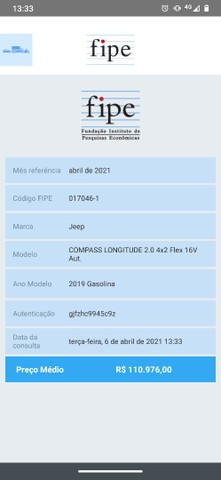 Jeep Compass Longitude 2019 gasolina 4x2 - Foto 7