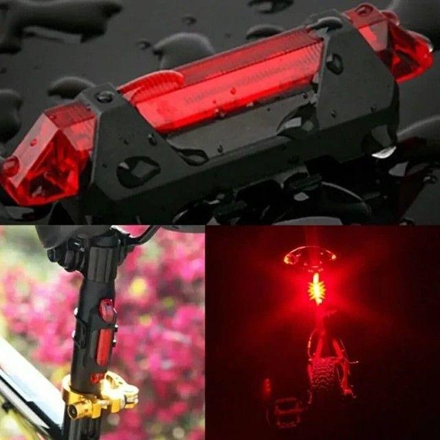 Luz de led para bike recarregável  - Foto 3