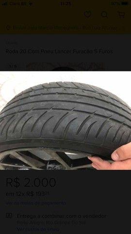 Roda aro 20 com pneus *** LEIA O ANUNCIO*** - Foto 5