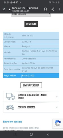 Abaixo da Fipe Peugeot partner 1.6 - Foto 5