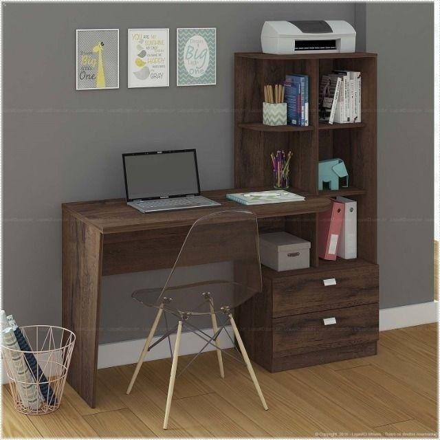 Promoção - Mesa Computador Escrivaninha Elisa com Prateleiras - Apenas R$399,00