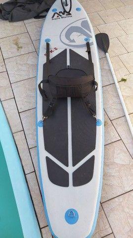 Stand Up inflável, Aqua Marina SPK-2, serve como caiaque.  - Foto 4