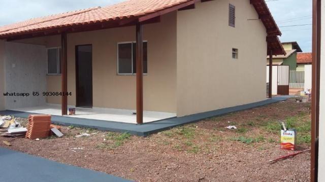 Casa para venda em várzea grande, novo mundo, 2 dormitórios, 1 banheiro, 4 vagas - Foto 9