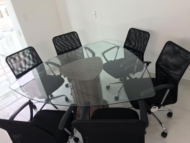 Mesa de reunião de vidro - Foto 3