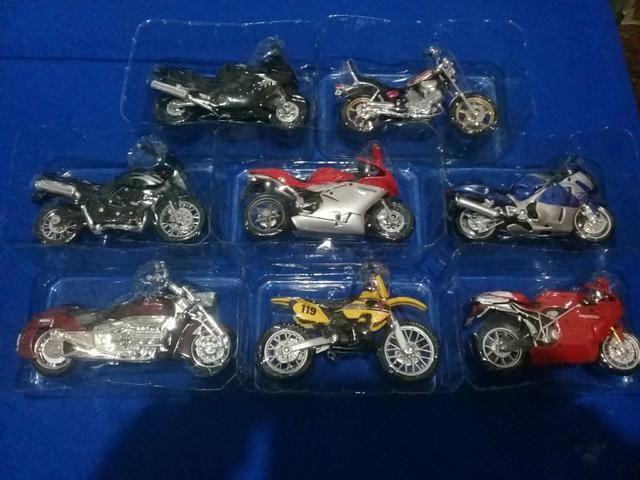 Coleção motos miniaturas