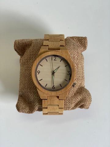 Relógio de Bambú Masculino