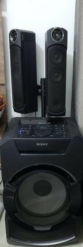 Mini System Sony Mhg-gt5d cm Bluetooth Nfc e Led Multicolorido - Bivolt - Foto 2
