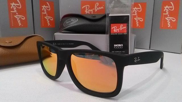 Óculos de Sol RayBan Justin Vermelho espelhado - Bijouterias ... 7ab265ba97