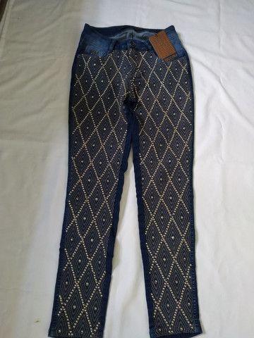 Calça jeans marca Cacau número 38 Nova - Foto 2