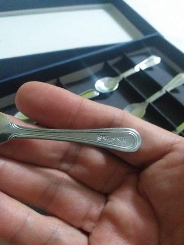 Jogo 06 mini-colheres de café de aço inox da WOLF - Foto 3