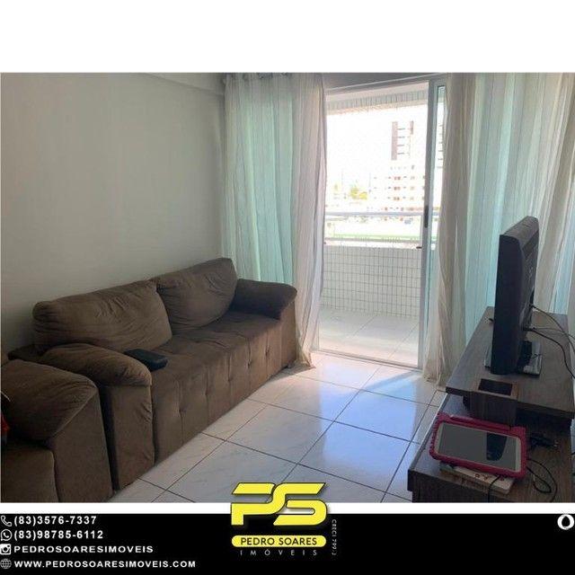 (MOBILIADO) Apartamento com 2 dormitórios à venda, 60 m² por R$ 360.000 - Tambaú - João Pe - Foto 2