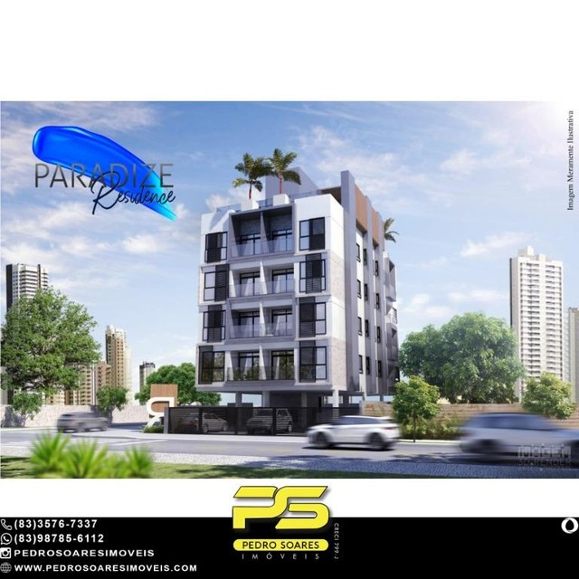 Apartamento com 1 dormitório à venda, 35 m² por R$ 195.000 - Aeroclube - João Pessoa/PB - Foto 4