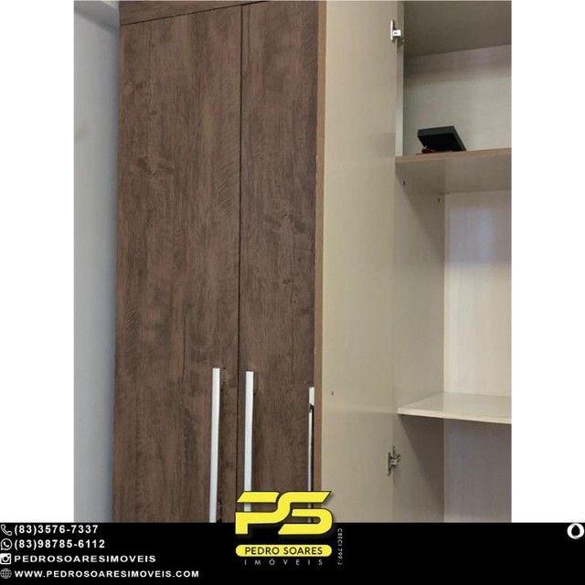 (MOBILIADO) Apartamento com 2 dormitórios à venda, 60 m² por R$ 360.000 - Tambaú - João Pe - Foto 6