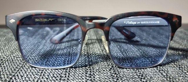 Oculos Sol Vintage Azul Chilli Beans Unisex<br>