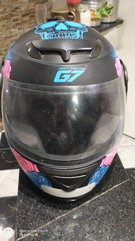 Capacete G7, pouco uso!