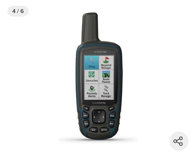 GPS Portátil Garmin GPSmap 64x Mapa Topoactive América do Sul  - Foto 5