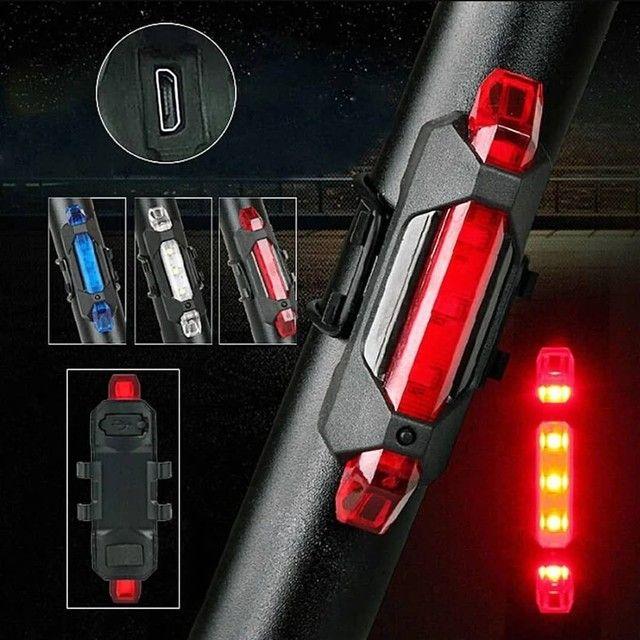 Luz de led para bike recarregável  - Foto 2