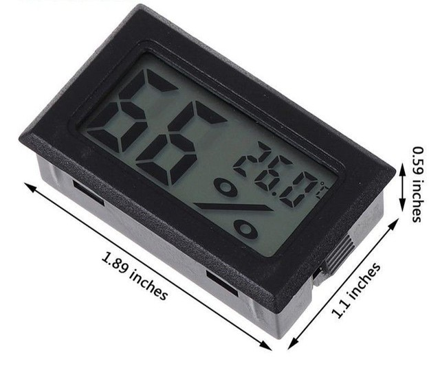 Medidor de temperatura e umidade para chocadeira termo higrômetro