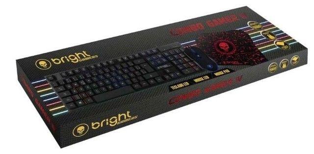 Kit Gamer Teclado E Mouse 6 Botões Com Led E Mouse Pad - Foto 4