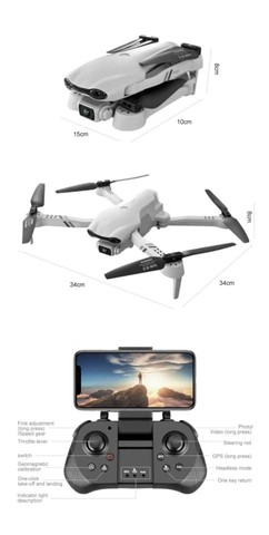Brinquedo Drone f10 GPS câmera 6K Wifi FPV  - Foto 3