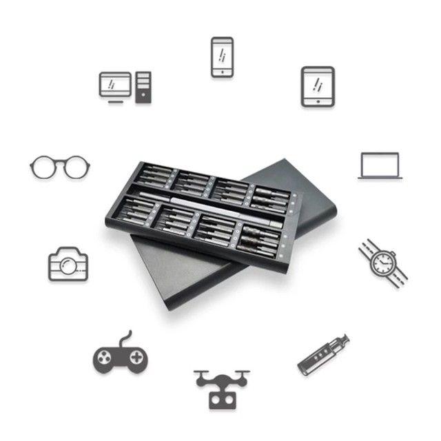 Kit 62 Chaves Ferramentas Vídeo Game iPhone Drone MacBook Xiaomi  - Foto 5