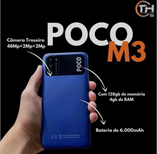Poco M3 128gb/4Gb Melhor preço do Nordeste - Foto 2