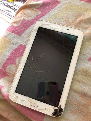 Tablet Samsung funcionando perfeitamente só a tela que está trincada