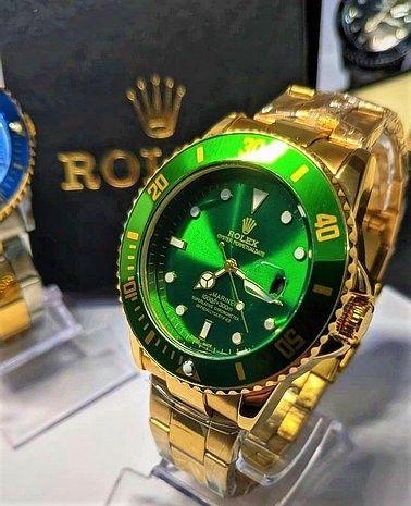 Rolex Submariner Verde linha Gold (1ª Linha) - Foto 5