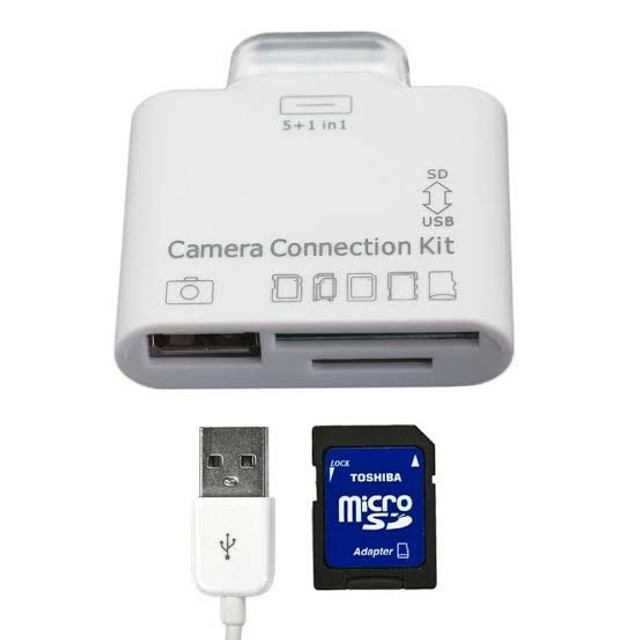 Adaptador 5 em 1 usb/sd/flash p/ 30 Pinos (Iphone 4 & Ipad 4) Novo<br> - Foto 2