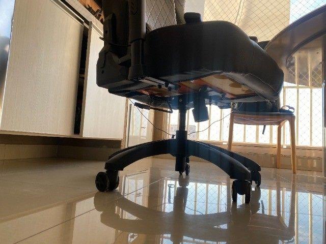 Cadeira Gamer MaxRacer Bunker Massagem SMI Regen Preta - Foto 4