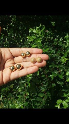 Brincos folheados semijoias