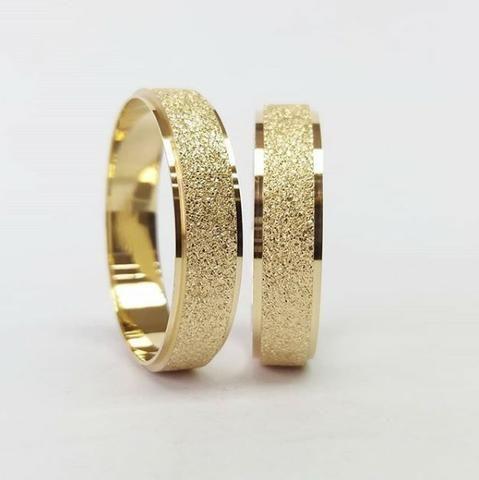 b88df158226 Par Alianças Noivado   Casamento Ouro 18k - Bijouterias