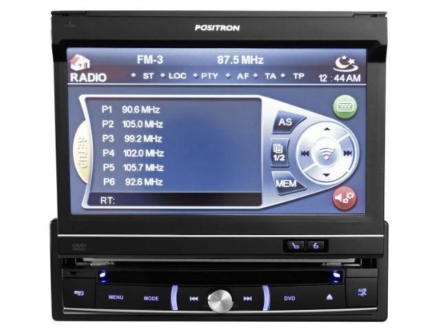 f121e9b0d8 DVD Automotivo Pósitron SP6720 Dtv 7 Polegadas Retrátil com Bluetooth TV  Digital USB