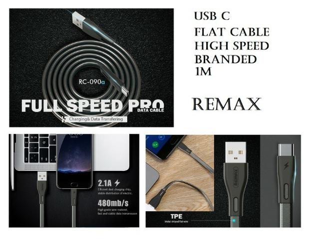 Cabo usb C 1m flat high speed branded Remax